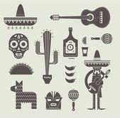 Mexico icons — Stock Vector