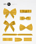 Vector bow collection — Stock Vector