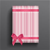 Girly boxe and bow — Vector de stock