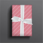 Girly boxe and bow — Stockvector