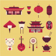 Stock Vector: Chineese travel icons