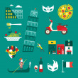 Stock Vector: Italy icons