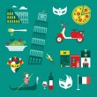 Italy icons — Stock Vector