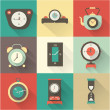 Vector clock icons set — Stockvectorbeeld