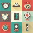 Vector clock icons set — Stock Vector