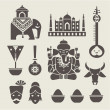Indian icons — Stock Vector #29759295