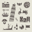 Italy icons — Stock Vector #29759305
