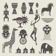 Africa icons — Stock Vector #29759363