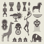 Africa icons — Stock Vector