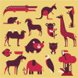 Vector de stock : Animals set
