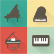 Piano icons — Stock Vector