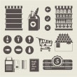 supermarkt pictogrammen — Stockvector  #31019309