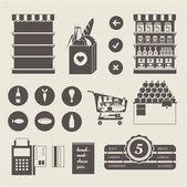 Supermarket icons — Stock Vector