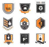 Iconos de boxeoboksen pictogrammen — Vector de stock