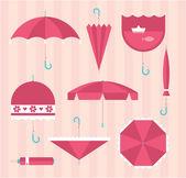 Umbrella icons — Stock Vector