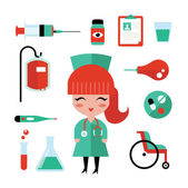 Nurse icons — Stock Vector