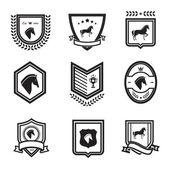Horse badges — Stock Vector