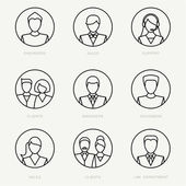 Vector company avatars — Stock Vector