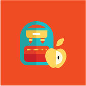 Blue school backpack — Stockvektor