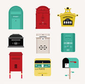 Vector mail boxes — Stock Vector