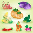8 Vegetables — Stock Vector