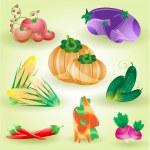 8 Vegetables — Stock Vector #23112758