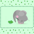 Stock Vector: Elephant and clover.