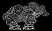 熊。矢量. — 图库矢量图片
