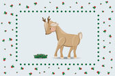 Fawn and cranberries. — Stock Vector