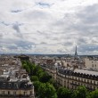 Parisian skyline on a cloudy day — Stock Photo