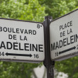 Stock Photo: Directions sign in Paris