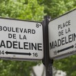Directions sign in Paris — Stock Photo