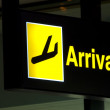 Arrivals sign — Stock Photo