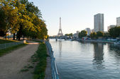 Early morning in Paris — Stock Photo