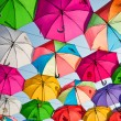 Colorful umbrellas in the sky — Stock Photo #41252551