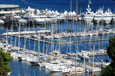 Beautiful yachts on a sparkling blue sea — Stok fotoğraf
