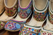 Traditional colorful Arabic slippers — Stock Photo