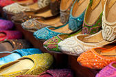 Traditional colorful Arabic slippers — Foto de Stock
