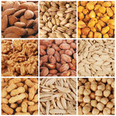 Different kinds of nuts — Stock Photo