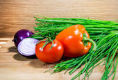 Vegetables ready to eat — Stock Photo