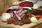 French meat assorted — Stock Photo