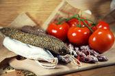 ассорти из французских салями — Стоковое фото