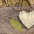 Stock Photo: Heart shaped rice