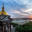 Sunset over Isaac's cathedral — Stock Photo #29026419