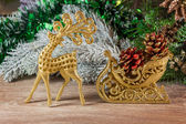 Santa Claus'es sledge — Stock Photo