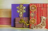 Gift boxes on Christmas — Stock Photo