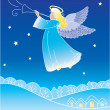Angel greeting card — Stock Vector