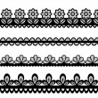 Set of lace vector borders — Stock Vector