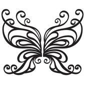 Okrasné vektorové motýl — Stock vektor