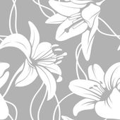 Vector lily seamless pattern — Stock Vector